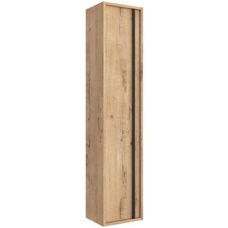 Colonne de bain suspendu Nevada en bois chêne ostippo | Chêne clair