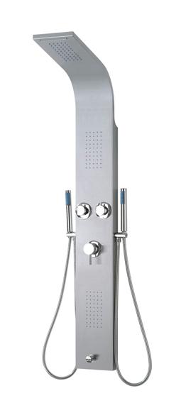 avec pommeau /à pluie 20 cm et douchette avec 3 modes de flux chrom/ée Hauteur r/églable Colonne de douche ronde