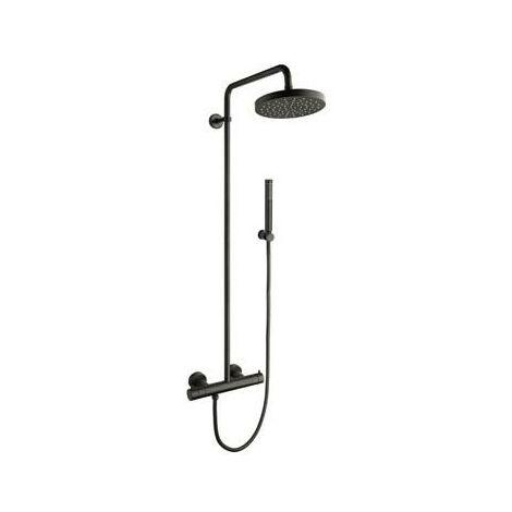 Colonne de douche avec mitigeur thermostatique BLACKMAT TRIVERDE - CRISTINA ONDYNA TV48613