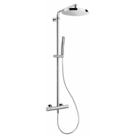 Colonne de douche avec mitigeur thermostatique ovale THETA CHROME - CRISTINA ONDYNA TE49951
