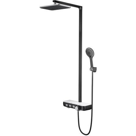 Colonne de douche avec tablette Noir - Tabarca