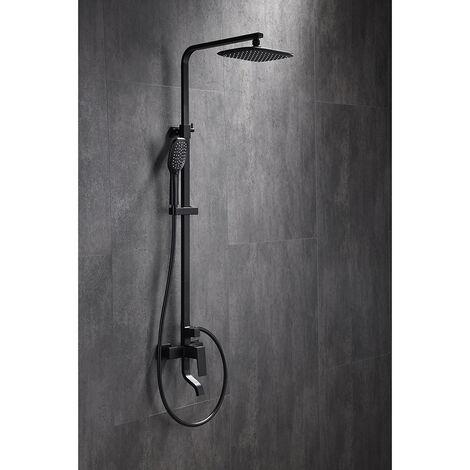 Colonne de douche & bain mitigeur Noir - Léon