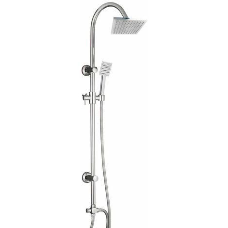 Colonne de douche carrée sans robinetterie tete carree en ABS DUO SMART