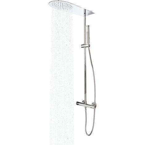 Colonne de douche design avec mitigeur thermostatique Pommeau et douchette