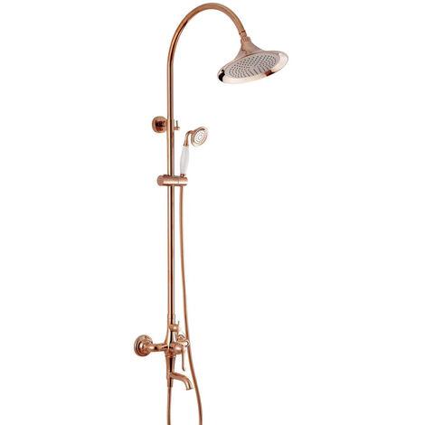 Colonne de douche doré rose style antique
