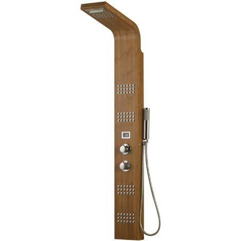 colonne de douche en bois hydrotherapie bamboo 75000019. Black Bedroom Furniture Sets. Home Design Ideas