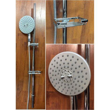colonne de douche en laiton chromé colonne de haut en bas, complète