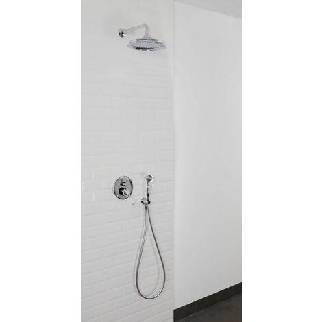 Colonne de douche encastrable murale mécanique tete retro en ABS METROVA
