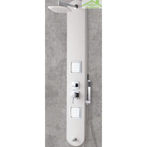 Colonne de douche hydromassante LAURENT en ABS 130x25 cm