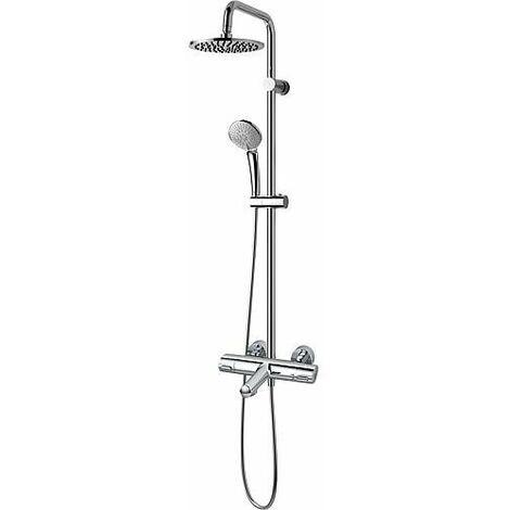 Colonne de douche Idealrain avec Ceratherm 100 mitigeur thermostatique de douche en saillie