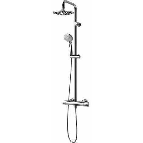 Colonne de douche Idealrain avec mitigeur thermostatique Ceratherm 100 encastré