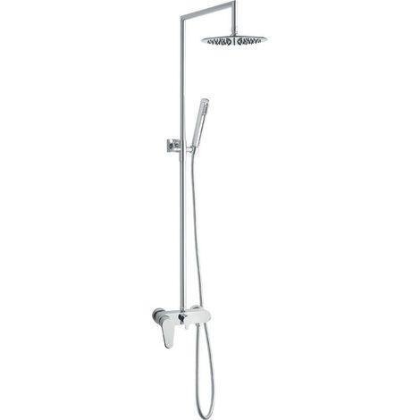 Colonne de douche mécanique tete ronde en inox LINEA + MECA