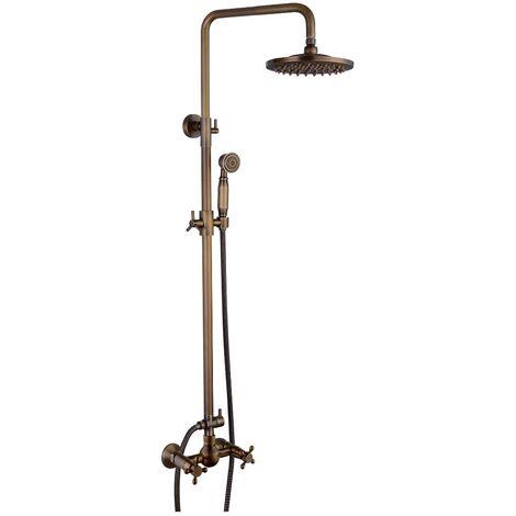 Colonne de douche mélangeur système de douche finition bronze