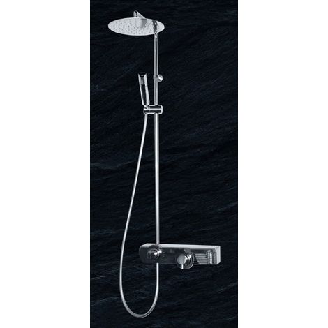 Colonne de Douche Mitigeur Thermostatique JOLLY DROP Blanche
