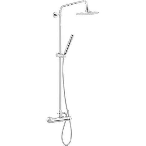Colonne de douche Nestos avec mitigeur douche,douchette, pomme de douche, diam. 190mm, chrome