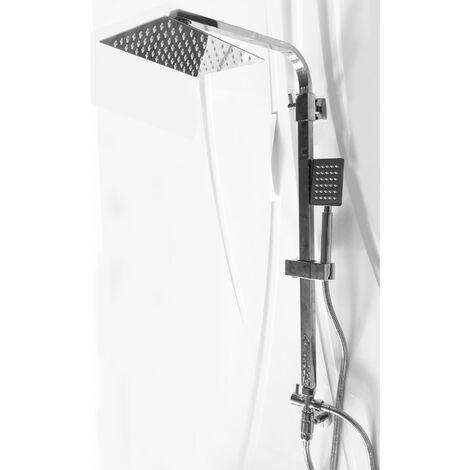 Colonne de douche télescopique carrée complète et réglable