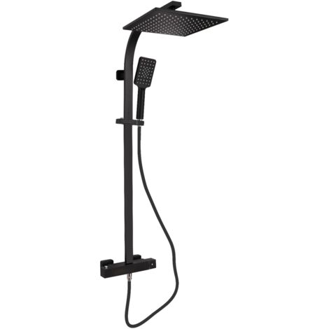 Colonne de douche thermostatique ACQUA noir mat avec technologie Keepcool® - Noir