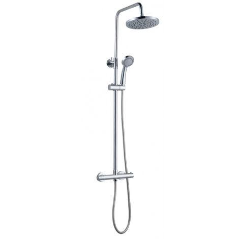 Colonne de douche thermostatique chromée Atria