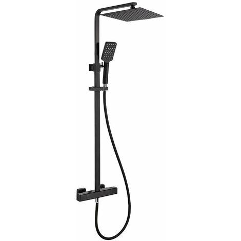 Colonne de douche thermostatique OSLO noir mat avec technologie KeepCool® - Noir
