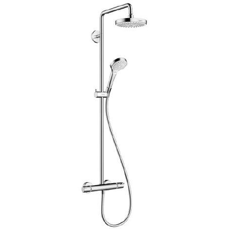 Colonne de douche thermostatique Showerpipe Croma Select S180 - Blanc / chromé