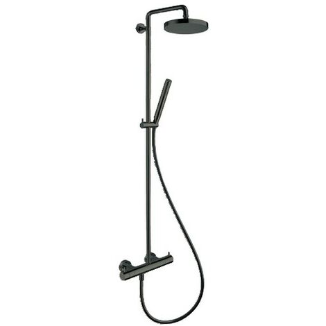COLONNE DE DOUCHE TRIVERDE THERMOSTATIQUE COMPLETE CHROME NOIR - CRISTINA ONDYNA TV48672