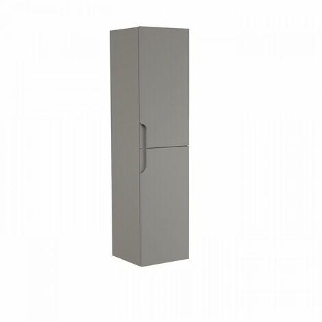 Colonne de salle de bain 2 portes H 120 cm - Taupe - RONDO