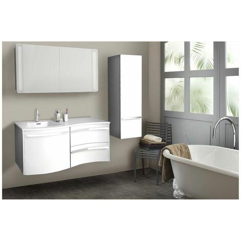 colonne de salle de bain blanche suspendre 120 cm poly. Black Bedroom Furniture Sets. Home Design Ideas