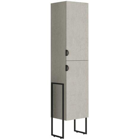 Colonne de salle de bain Faktory béton minéral 40 cm