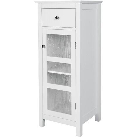 Colonne de salle De Bain placard de rangement en bois avec tiroir blanc Connor Elegant Home Fashions ELG-579