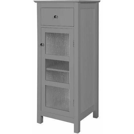 Colonne de salle De Bain placard de rangement en bois avec tiroir gris Connor Elegant Home Fashions EHF-579G