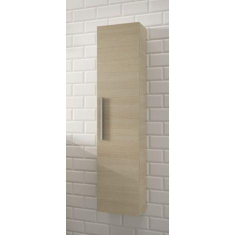 Colonne de salle de bain suspendue 1 porte couleur roble chêne | Chêne clair