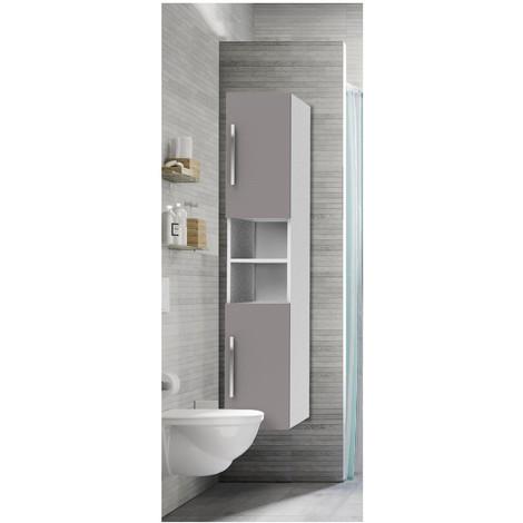 Colonne de salle de bain Taupe & blanc H160 NEXO - 3760232693964