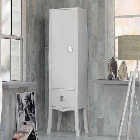 Colonne de salle de bains laqué blanc 170 cm, Alcazar - Blanc