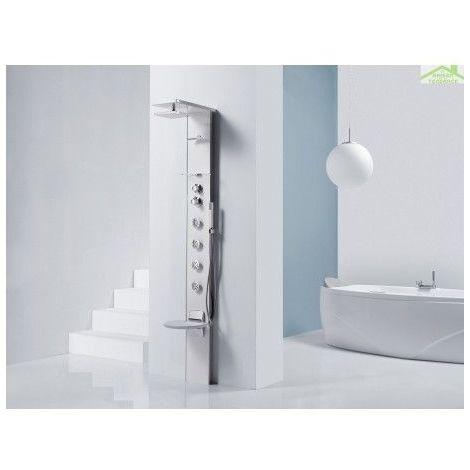 Colonne de douche hydromassante avec siège NOVELLINI CASCATA 3 - Noir