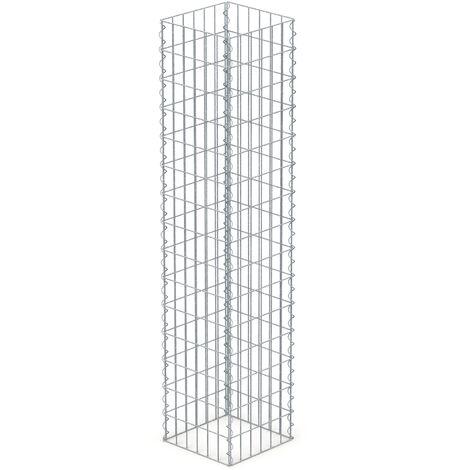 """main image of """"Colonne en gabion clôture de jardin mur panier à pierres en acier 150x30x30cm"""""""