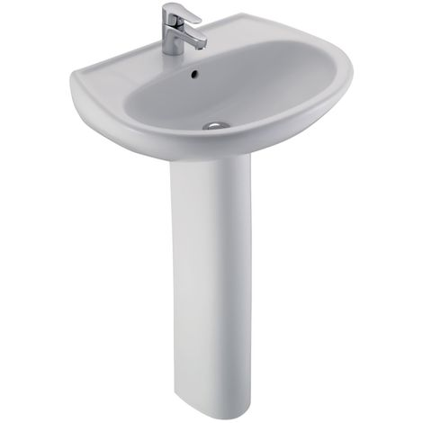 Colonne pour lavabo Brive blanc