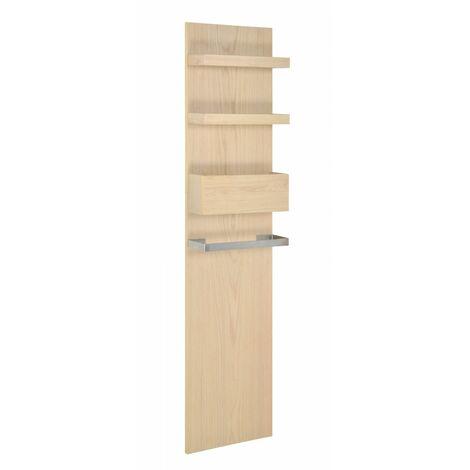 Colonne/Rangement salle de bain 165 cm à suspendre chêne ENIO