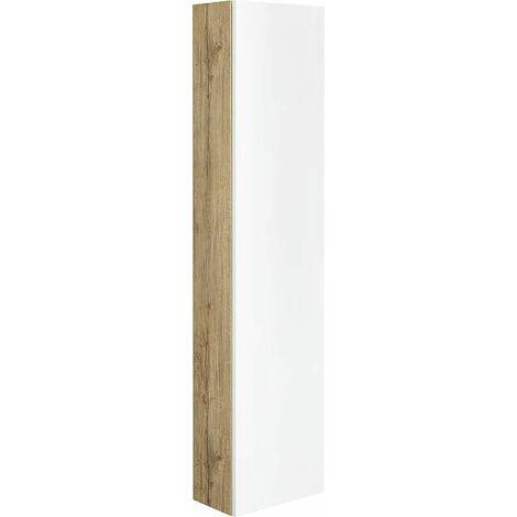 Colonne série MAF 1 porte blanc mat/ Asteiche réversible 350x1500x208mm