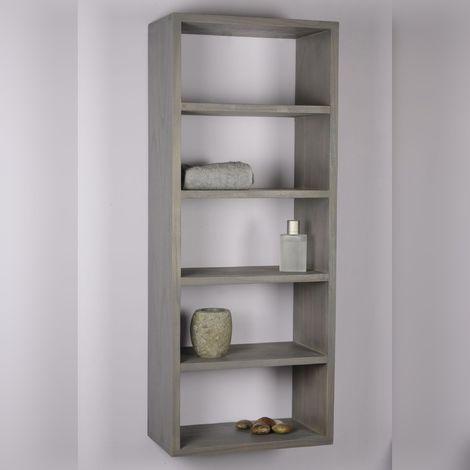 colonne suspendue grisée - vasque gris