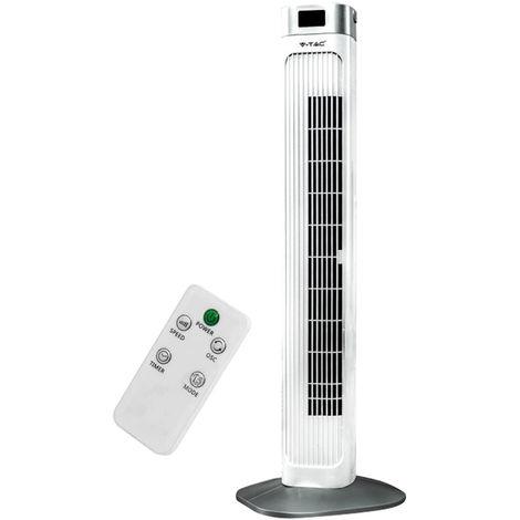 Colonne Tour Colonnes Ventilateur Télécommande Ventilateur Climatiseur Ventilateur oscillant V -TAC 7900
