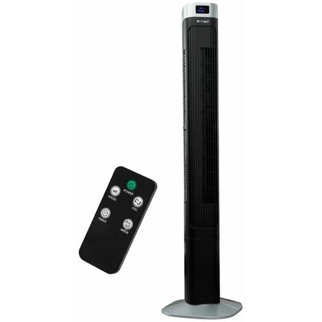 Colonne tourelle Ventilateur Télécommande Timer Stand Timer tour oscillante Ventilateur à LED Affichage