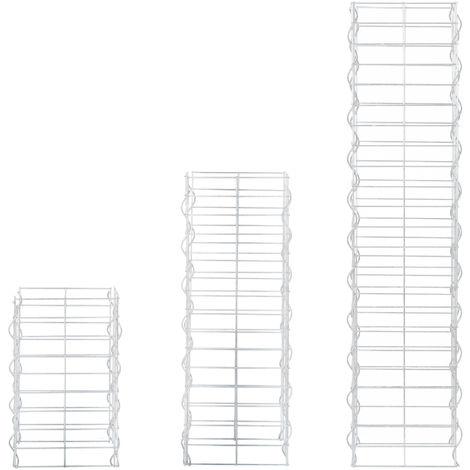 colonnes - gabions kit de 3 (plan rectangulaire - 25cm) (115 75 45 cm de haut) gabions en pierre , espaliers