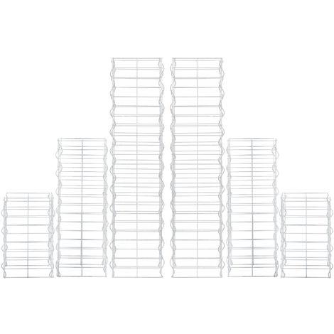 colonnes - gabions kit de 6 (plan rectangulaire - 25cm) (115 75 45 cm de haut) gabions en pierre / espaliers /