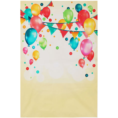 Color Balloon Silk Fabric Backdrop For Photography Decor Hasaki