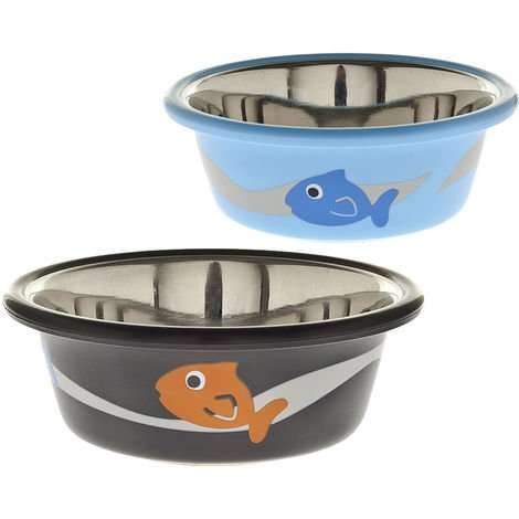 Color bowl model Fish for cats Ferribiella