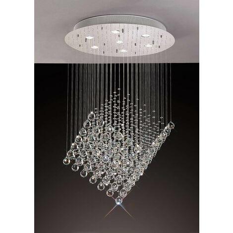Colorado diamond lámpara colgante 7 bombillas cromo pulido / cristal