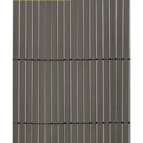 Colorado gris, cannisse synthétique à imitation naturelle-mt. H. 1,5x5