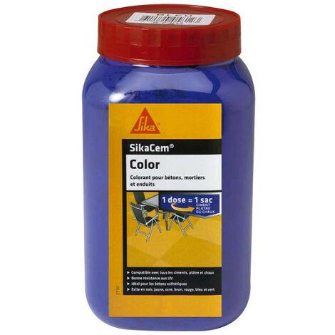 Colorant en poudre pour ciment, chaux et plâtre SIKA SikaCem Color - Bleu - 700g
