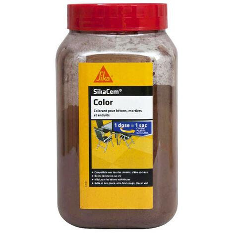 Colorant en poudre pour ciment, chaux et plâtre SIKA SikaCem Color - Brun - 700g - Brun