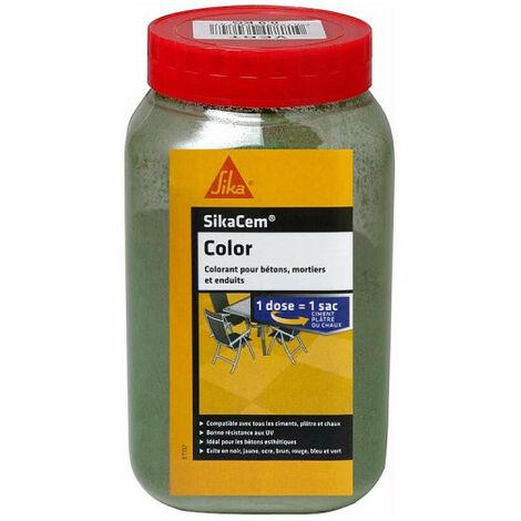 Colorant en poudre pour ciment, chaux et plâtre SIKA SikaCem Color - Vert - 900g